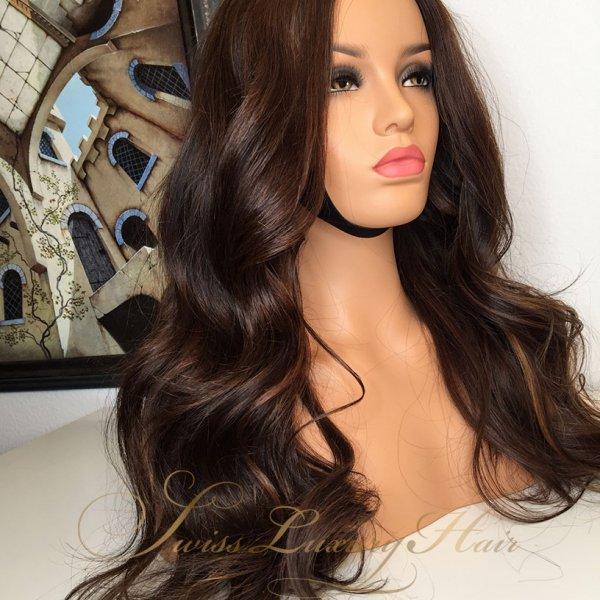Swiss Luxury Hair Wig Wavy Styled