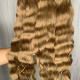 Swiss Luxury Hair Raw Indian Hair Honey Brown Wavy